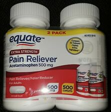 10 CT NEW EQUATE ADULT EXTRA STRENGTH ACETAMINOPHEN PAIN RELIEVER 500 MG 500 CT