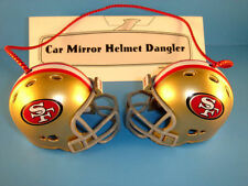 SAN FRANCISCO 49ERS CAR MIRROR NFL FOOTBALL HELMET DANGLER - HANG FROM ANYTHING!