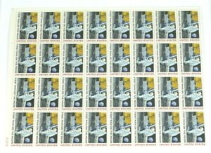 1969 First Man On The Moon .10 Cent Airmail Full Sheet Unused - 32 Stamps Mint!