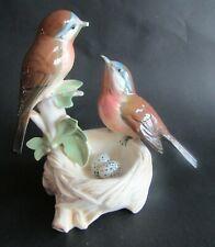 KARL ENS oiseaux au nid  BIRDS IN NEST  FIGURINE / BLUE MARK 7499