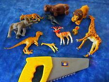 pour jouer garçonnet lot 10piéces animaux de la savane +une scie offerte