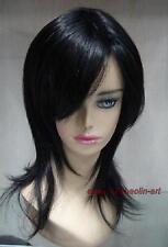 Haute qualité ! noir longue de en bonne santé cosplay Costume cheveux perruques