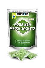 Thetford Aqua Kem Green Sachets Chemical Toilet Bags 12pcs Camping Motorhome NEW