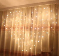 LED Heart-Shape Fairy String Curtain Light Wedding Party Romantic Hanging