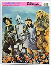 NEW Vintage Golden WIZARD OF OZ Frame Tray Child Puzzle 1988 Ages 3-7