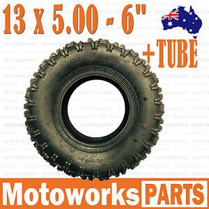 "13 x 5.00 - 6"" inch Tyre Tire + TUBE ATV QUAD Bike Gokart Scooter Buggy Mower"