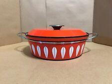 "Cathrineholm of Norway - Orange Lotus - 10.5"" Dutch Oven Pan - Circa 1960s"