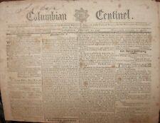1797 COLUMBIAN CENTINEL GEORGE WASHINGTON ENGRAVINGS TRUMBULL LAFAYETTE ADAMS &c