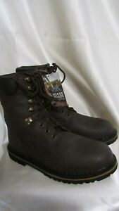 MEN`S DAN POST MCRAE BOOTS SIZE 9.5M NEW LEATHER MOISTURE WICKING BROWN