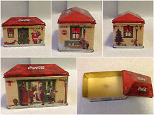 COCA COLA CANDELA SCATOLA METALLO CANDLE METAL BOX CHRISTMAS HOUSE RETTANGOLARE