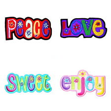 Set 4 Enjoy Peace Sweet Love Retro Hippie DIY Clothes Jeans Jacket Iron on Patch
