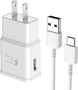 Fast Wall + Charger USB Type C Cable For Samsung Galaxy A01 A21 A51 A71 White
