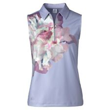 NWT Daily Sports Ladies Small Large Grace violet floral 1/4 Zip Golf polo shirt