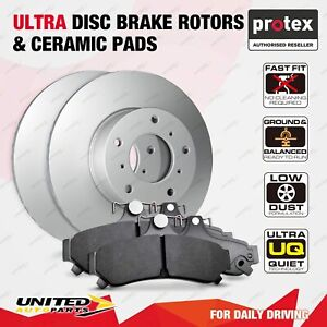 Rear Ultra Disc Brake Rotors + Ceramic Pads for Kia Cerato YD Soul PS 2.0L FWD