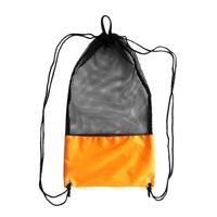 "Mesh Drawstring Bag for Diving Gear Fins Mask Swim Scuba Snorkeling 25/""x13/"""