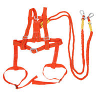 2m Fall Protection Full Body Safety Harness Double Ropes and Hooks - 100kg