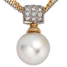 Echte Perlen-Halsketten & -Anhänger aus Weißgold mit Südsee für Damen