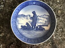 Royal Copenhagen Christmas Plate, Greenland Scenery 1978