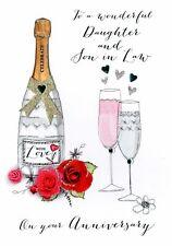 Daughter & Son-In-Law Anniversary Greeting Card Joie De Vivre Range Cards