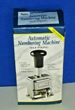 Rogers Automatic Numbering Stamp Machine 7 Actions 6 Brass Wheels Plus Stylus