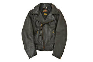 Real McCoy's With Harley Davidson Horsehide Leather Double Riders Jacket  F00616