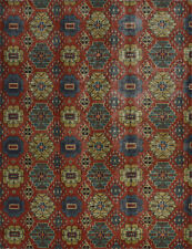 Village Kazak Rug, 8'x10', Red, Hand-Knotted Wool Pile