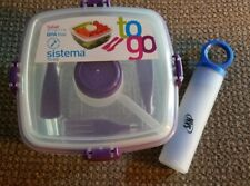 Sistema Bento Lunch Box To Go w  salad dressing container BPA free 1.1L 37.1 oz