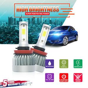 H11 LED Headlight 6000K 2019 1700W 255000LM CREE Kit Low Beam Bulbs High Power