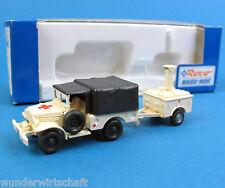 Roco h0 1388 set DODGE + Feldküche rdc croix rouge véhicule tout-terrain HO 1:87 OVP