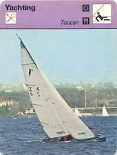 FICHE CARD Toucan de Louis Noverraz lac Léman Lake Geneva  Voilier Yacht 70s