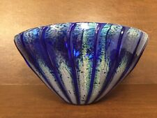 "SEGUSO VIRO Murano Art-Glass NUANCE COLLECTION Cobalt Blue 14"" Centerpiece Bowl"