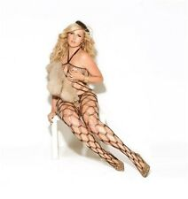 Diamond Net Bodystocking Adult Womens Sexy Valentine Lingerie Black Queen Size