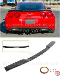 For 05-13 Corvette C6 | ZR1 Extended Matte Black Rear Trunk Lid Wing Spoiler