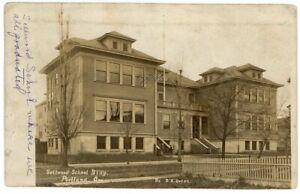 Antique Sellwood School Postcard Portland Oregon OR: D A Ovens RPPC - 1908