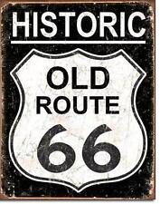 Route 66 Historic USA Reisen Metall Strassen Highway Schild Vintage Design