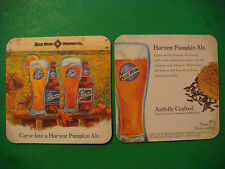 Beer Bar Coaster ~ Blue Moon Brewing Company ~ Carve Into A Harvest Pumpkin Ale