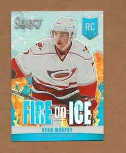 2013/14 Select RYAN MURPHY Fire on Ice Rookie BLUE PRIZM 16/25 SP Hurricanes