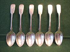 A set of six rare silver spoons crisp William IV hallmarks 132 grms.1835