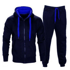 Mens Tracksuit Jogging Top Bottom Sport Sweat Suit Hoodie Coat Trousers Pant Set