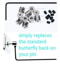 Pin Locks Pin Keepers Pin Savers For  Enamel Pin Badges lock 10pcs to 200pcs