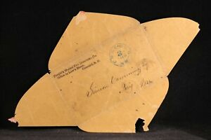 NH: Concord & Paris, Maine 1850s Turned Stampless +#10 Cover, 3 Paid in Blue CDS