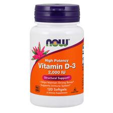 La vitamina D-3, D3, 2000iu X 120 Cápsulas blandas-Now Foods D3