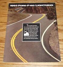 Original 1993 Ford Truck F-150 Lightning Sales Folder Brochure 93 Pickup