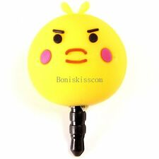 Lovely Cartoon Silicon Chicken Anti Dust Plug Earphone Jack Plug Accessories