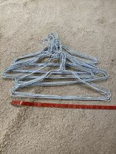 50 White METAL CLOTHES HANGERS WIRE HANGERS 18 INCH, USED Dry Cleaners