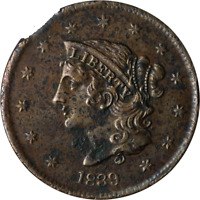 1839 Large Cent - Clipped Planchet Great Deals From The Executive Coin Company