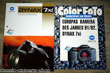 Kamera Prospekt 1x MINOLTA DYNAX 7xi & 1x Sonderdruck COLOR FOTO Broschüre X4052