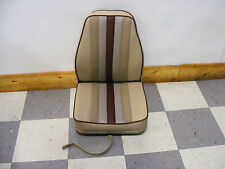 Highback Deluxe Fold-Down Seat (Tan w/ Browns)