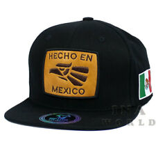 MEXICAN hat HECHO EN MEXICO Eagle & Flag Embroidered Snapback Baseball cap-Black