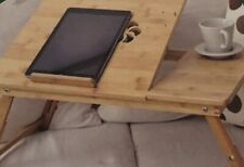 Ideal Solution For Busy People Echo Friendly Laptop Table Tray Natural Bamboo
